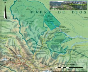 Manu Map - Madre de Dios protected jungle area